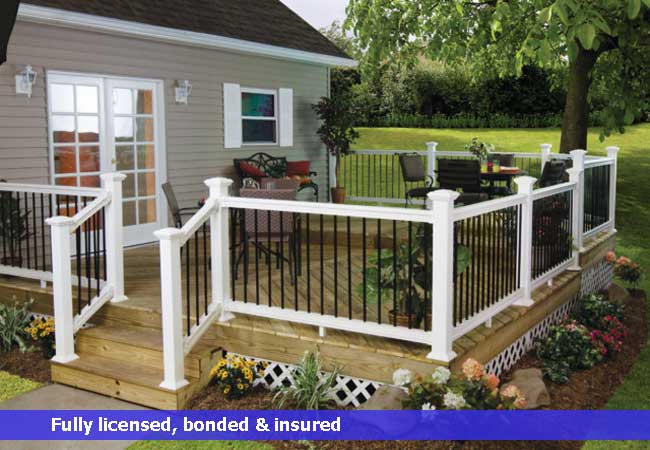 Vinyl ornamental deck rail