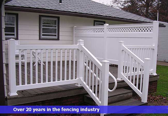 Vinyl hand safety railings