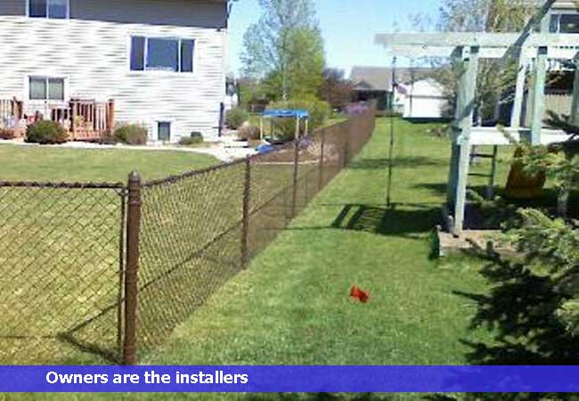 Brown vinyl chain link fence