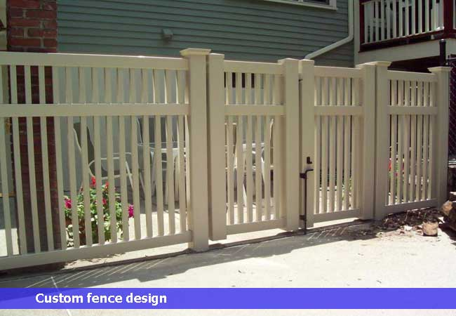 Vinyl 3 rail narrow closed top fence