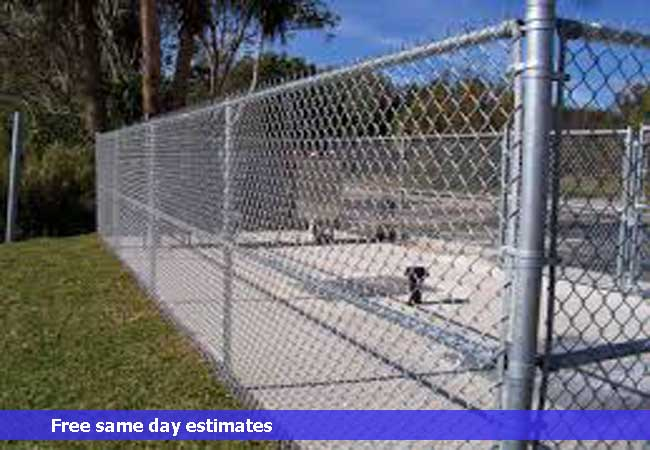 Commercial chain link security enclosures