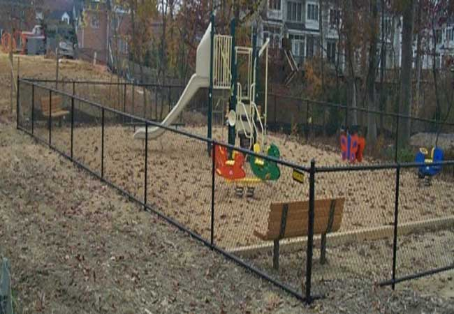 playground chain link fencing