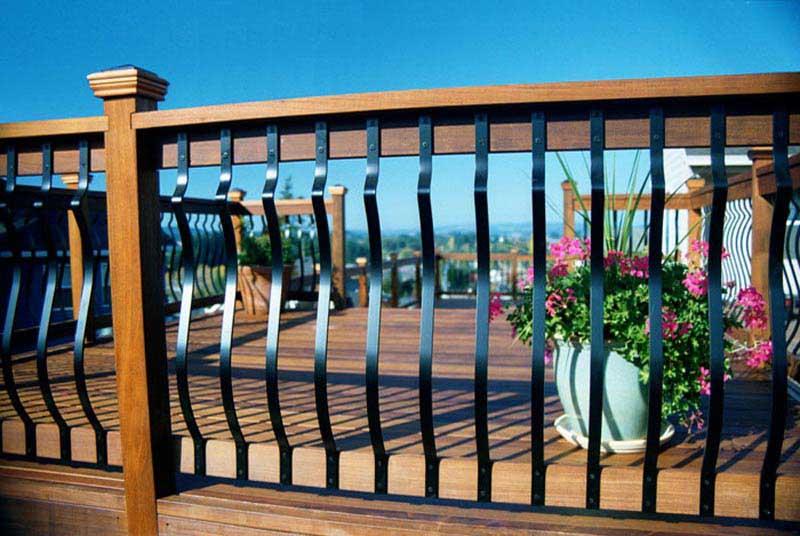 Railings iron aluminum vinyl pvc all fencing