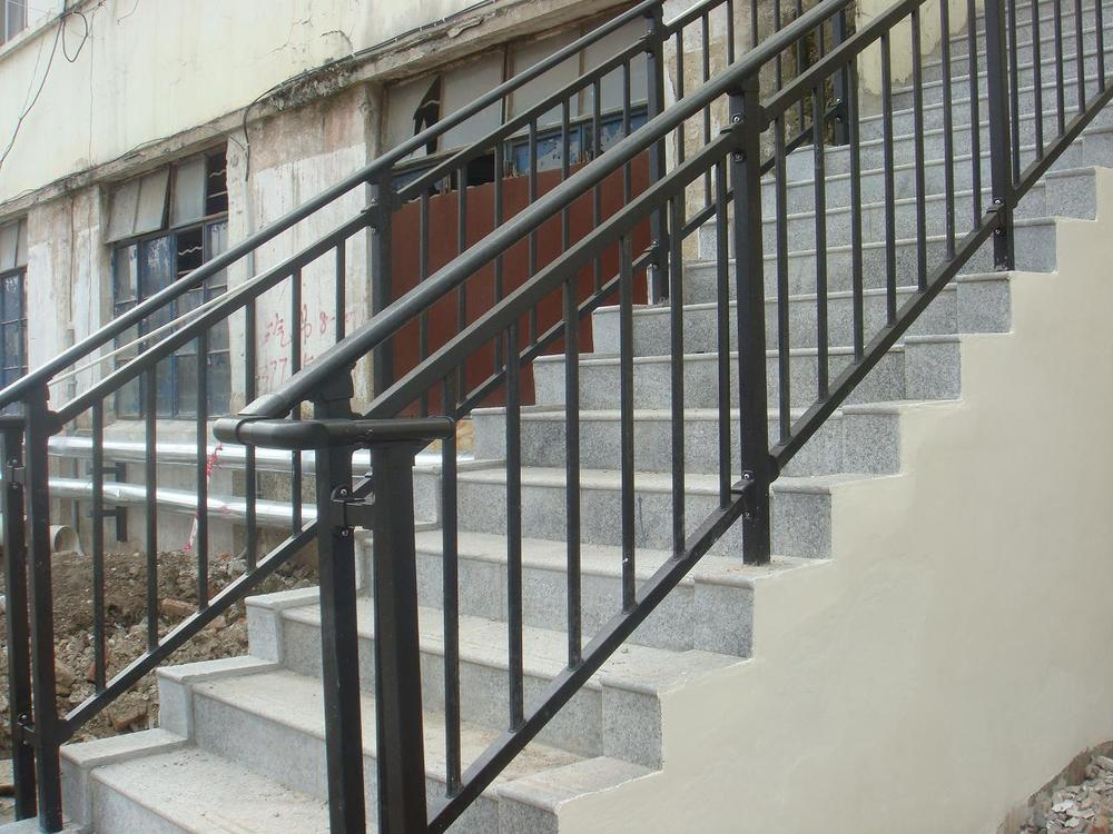steel stair safety hand railing