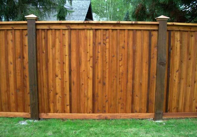 wood estate privacy fencing